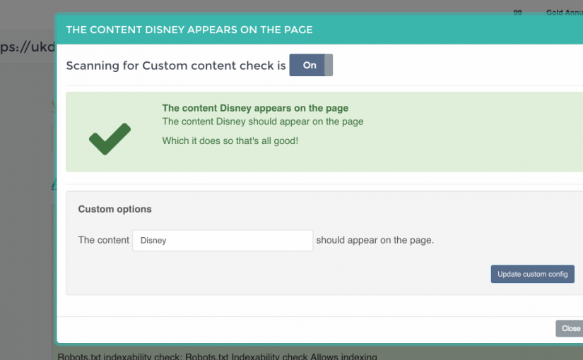 Custom Content checks are now enabled!