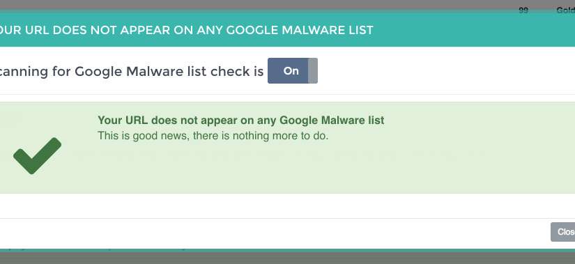 Malware Detection Check now Live